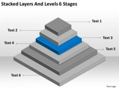 Stacked Layers And Levels 6 Stages Ppt Internet Business Plan PowerPoint Slides