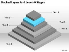 Stacked Layers And Levels 6 Stages Ppt Small Business Plan Sample PowerPoint Templates