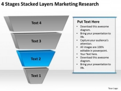 Stacked Layers Marketing Research Putting Together Business Plan PowerPoint Templates