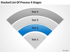 Stacked List Of Process 4 Stages Business Plan PowerPoint Slides