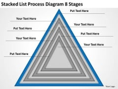 Stacked List Process Diagram 8 Stages Ppt Business Plan Preparation Service PowerPoint Templates
