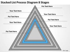 Stacked List Process Diagram 8 Stages Ppt Strategic Business Planning PowerPoint Templates