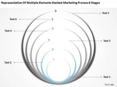 Stacked Marketing Process 6 Stages Ppt Business Plan PowerPoint Templates