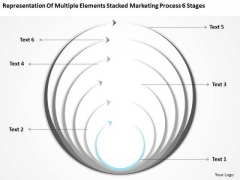Stacked Marketing Process 6 Stages Ppt Real Estate Business Plan Examples PowerPoint Templates