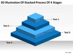 Stacked Process 4 Stages Ppt Business Plan Outline PowerPoint Templates