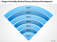Stacked Process Business Deveopment Plans Template PowerPoint Slides