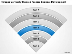 Stacked Process Business Deveopment Ppt Plans Online PowerPoint Templates