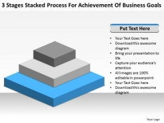 Stacked Process For Achievement Of Business Goals Ppt Planning PowerPoint Slides