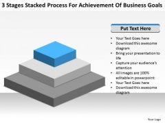 Stacked Process For Achievement Of Business Goals Ppt Software Plan PowerPoint Slides