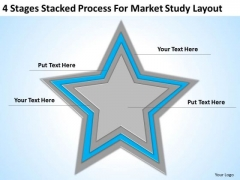 Stacked Process For Market Study Layout Ppt Annual Business Plan Template PowerPoint Templates