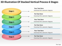 Stacked Vertical Process 6 Stages How To Construct Business Plan PowerPoint Slides