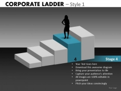 Stage 4 Of 5 Business Steps PowerPoint Templates
