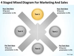 Staged Mixed Diagram For Marketing And Sales Ppt Record Label Business Plan PowerPoint Templates