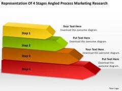 Stages Angled Process Marketing Research Ppt Business Plan Template PowerPoint Templates