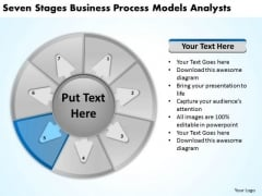 Stages Business Process Models Analysts Plan Sample PowerPoint Templates