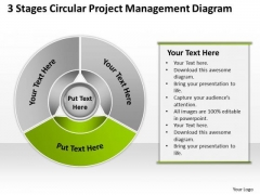 Stages Circular Project Management Diagram Business Plan Example PowerPoint Templates
