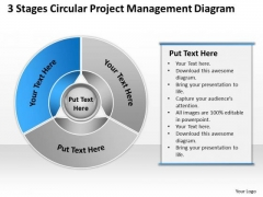 Stages Circular Project Management Diagram Startup Business Plan Template PowerPoint Templates