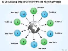 Stages Circularly Placed Forming Process Flow PowerPoint Slides