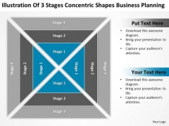 Stages Concentric Shapes Business Planning Ppt 1 Graphic Design PowerPoint Templates
