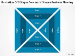 Stages Concentric Shapes Business Planning Ppt Import Export PowerPoint Templates