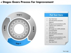 Stages Gears Process For Improvement Business Plan Software Download PowerPoint Slides