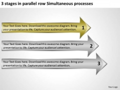 Stages In Parallel Row Simultaneous Processes How To Start Business Plan PowerPoint Slides