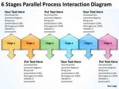 Stages Parallel Process Interaction Diagram Franchise Business Plan Template PowerPoint Templates