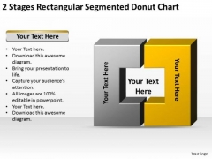 Stages Rectangular Segmented Donut Chart Ppt Business Proposal Outline PowerPoint Slides