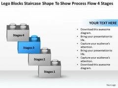 Staircase Shape To Show Process Flow 4 Stages Ppt Real Estate Business Plan PowerPoint Slides