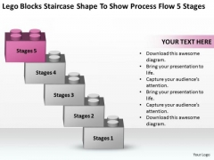 Staircase Shape To Show Process Flow 5 Stages Ppt Marketing Business Plan PowerPoint Slides