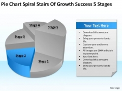 Stairs Of Growth Success 5 Stages Ppt Business Plan Examples PowerPoint Templates