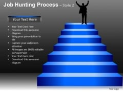 Stairs Step Process Flow Diagram Showing Success PowerPoint Slides Ppt Templates