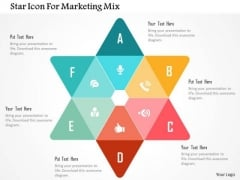 Star Icon For Marketing Mix Presentation Template