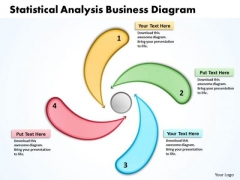 Statistical Analysis Business PowerPoint Presentations Diagram Radial Process Templates