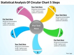 Statistical Analysis Of Circular Chart 5 Steps Internet Business Plan PowerPoint Templates
