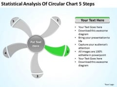 Statistical Analysis Of Circular Chart 5 Steps Ppt Business Plan PowerPoint Slide