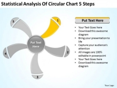 Statistical Analysis Of Circular Chart 5 Steps Ppt Business Plan PowerPoint Slides