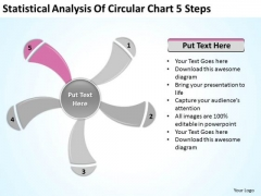 Statistical Analysis Of Circular Chart 5 Steps Ppt Outline For Business Plan PowerPoint Slides