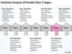 Statistical Analysis Of Parallel Data 7 Stages Business Planning Guide PowerPoint Slides