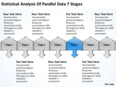 Statistical Analysis Of Parallel Data 7 Stages Fashion Business Plan PowerPoint Slides