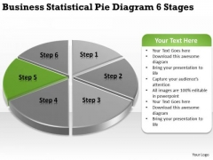 Statistical Pie Diagram 6 Stages Sample Business Continuity Plan PowerPoint Slides