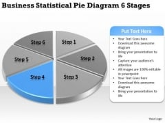 Statistical Pie Diagram 6 Stages Simple Business Plan Templates PowerPoint Slides