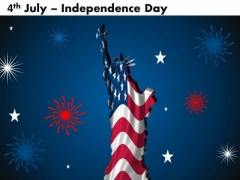 Statue Liberty American Independence Day PowerPoint Templates