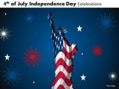 Statue Of Liberty Independence Day PowerPoint Presentation Slides
