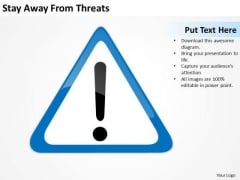 Stay Away From Threats Ppt Start Up Business Plan Outline PowerPoint Templates