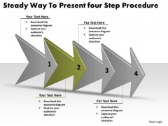 Steady Way To Present Four Step Procedure Basic Process Flow Chart PowerPoint Slides