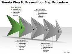 Steady Way To Present Four Step Procedure Business Plan Flow Chart PowerPoint Templates