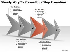 Steady Way To Present Four Step Procedure Free Flow Chart PowerPoint Slides