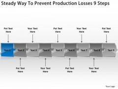Steady Way To Prevent Production Losses 9 Steps Diagram Of Business Plan PowerPoint Templates