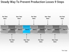 Steady Way To Prevent Production Losses 9 Steps Flow Chart Creator Online PowerPoint Slides